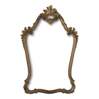 Vintage Italian Gold Hand Carved Mirror