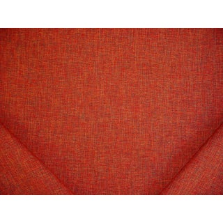 Transitional Robert Allen Modern Tweed Henna Red Drapery Upholstery Fabric - 2-3/8y For Sale