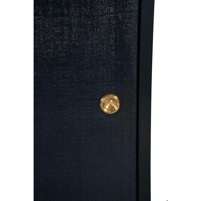 Modern Bishop Lacquered Linen Door Console For Sale - Image 3 of 5