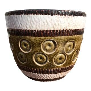 Mid-Century Italian Art Pottery Planter Pot For Sale