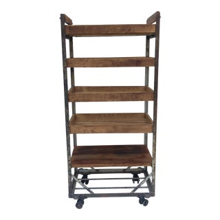 Industrial Vintage Baker's Rack For Sale