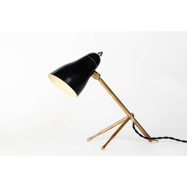 """1950s 1950s Giuseppe Ostuni """"Ochetta"""" Wall or Table Lamps for O-Luce - a Pair For Sale - Image 5 of 13"""