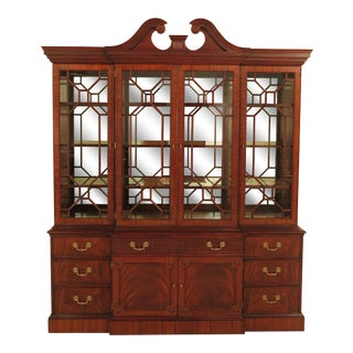 Henkel Harris Large Mahogany Breakfront China Cabinet