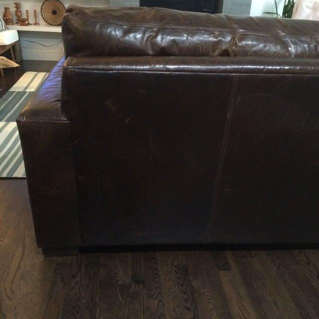 Restoration Hardware Leather Queen Sleeper Sofa - Image 7 of 11