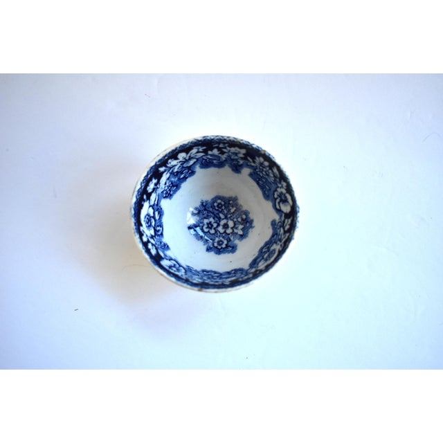 Antique Georgian C. 1815 Staffordshire Blue Transferware Tea Bowl For Sale In San Francisco - Image 6 of 10