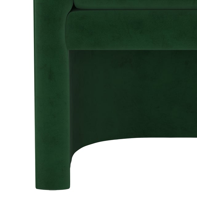 Not Yet Made - Made To Order Chair, Fauxmo Emerald For Sale - Image 5 of 7