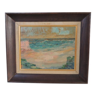 Mid Century Abstract Landscape Original Painting