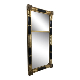 Antique Gilt and Black Empire Style Mirror For Sale
