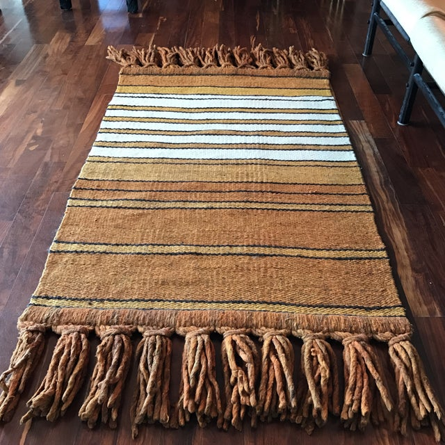 Mid-Century Handwoven Rug - Image 2 of 8