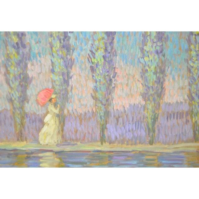 Impressionism Vintage Impressionist Painting by Eva Sikorski For Sale - Image 3 of 8