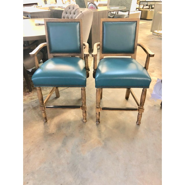 """Modern Fairfield Ramsey 24"""" Bar Stool- A Pair For Sale In Charlotte - Image 6 of 6"""