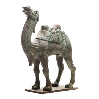 Lawrence & Scott Verdigris Bronze Camel Figurine For Sale