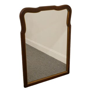1970s Vintage Statton Oldtowne Solid Cherry Mirror For Sale
