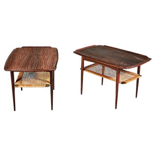Danish Rosewood Side Tables by Selig, Pair