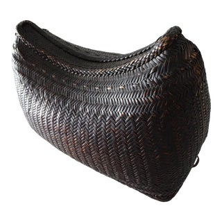 Woven Old Ifugao Side Basket For Sale