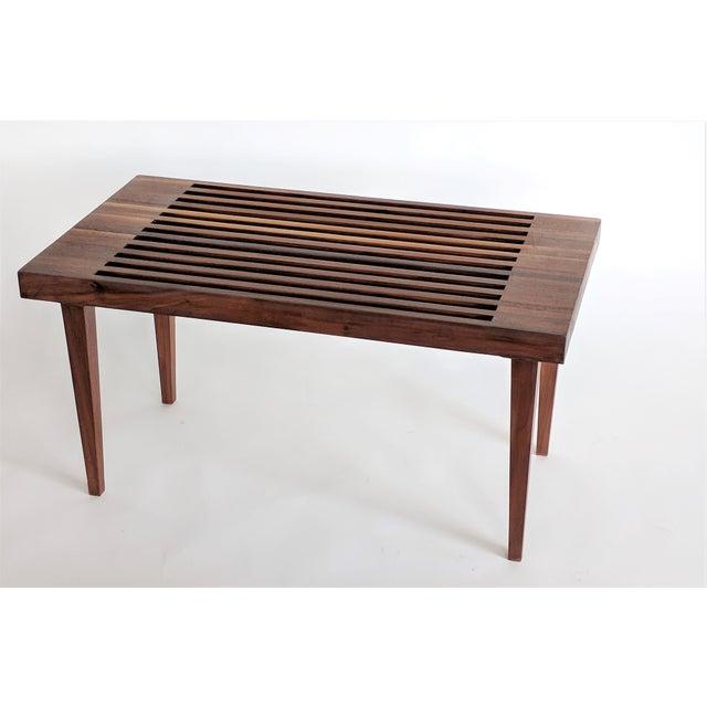Mid Century Modern Wooden Slat Bench - Image 9 of 9