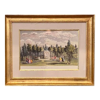 Vintage Framed Victorian Landscape For Sale