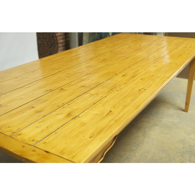 Italian Pine Farm Dining Table - Image 11 of 11