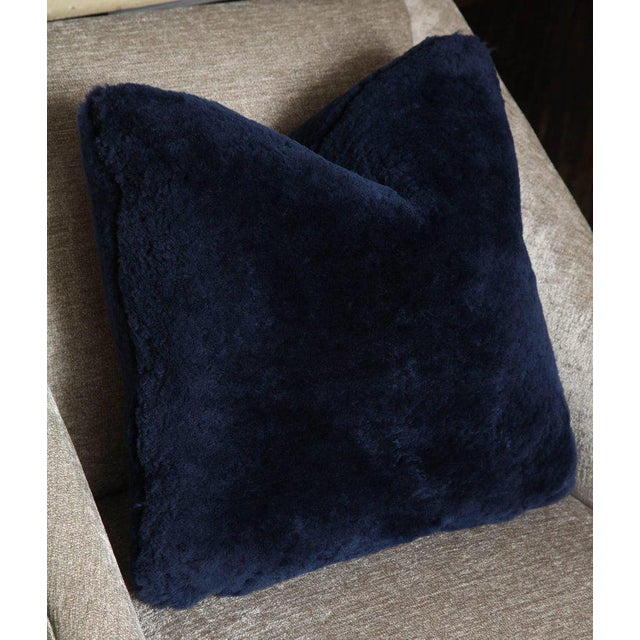 Genuine shearling pillows.