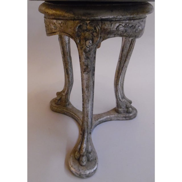 19th Century 19th Century Italian Silver and Gold Gilt Cherrywood Grotto Seat For Sale - Image 5 of 8