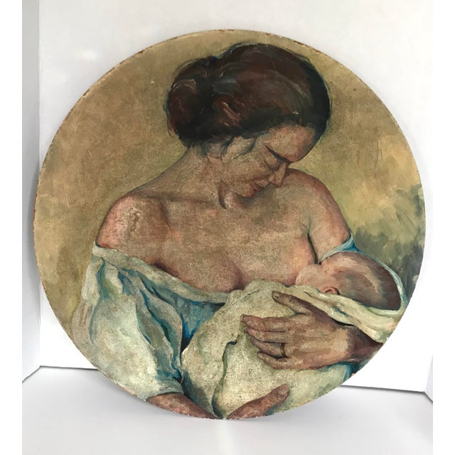 Original Painting of a Mother Nursing - Image 4 of 4
