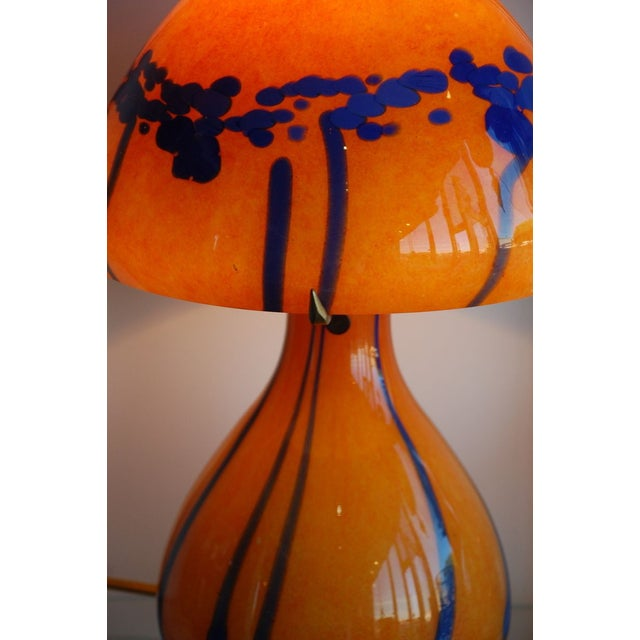 1970s French Handblown Glass Lamp - Image 2 of 3
