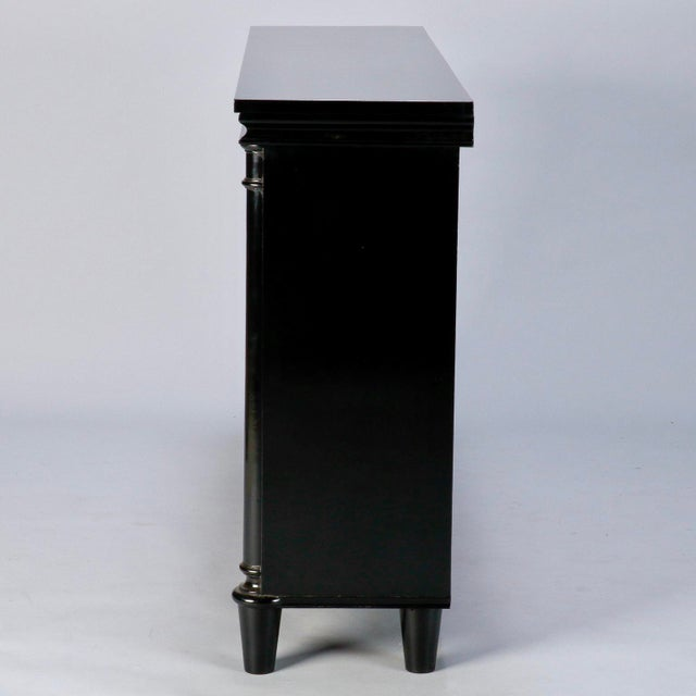 1920s Ebonised English Sideboard With Brass Grills For Sale - Image 5 of 10