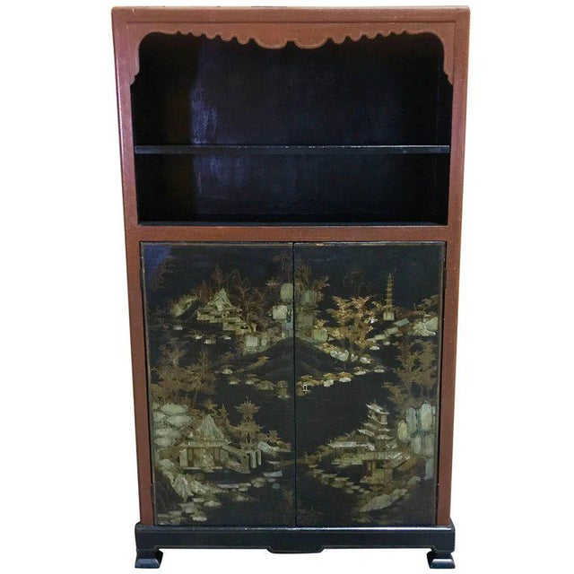 Chinese Ming Style Lacquered Bookcase or Cabinet - Image 11 of 11