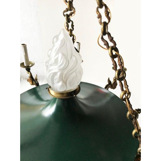 Green Vintage Huge Eleven-Light 1st French Empire Chandelier For Sale - Image 8 of 10