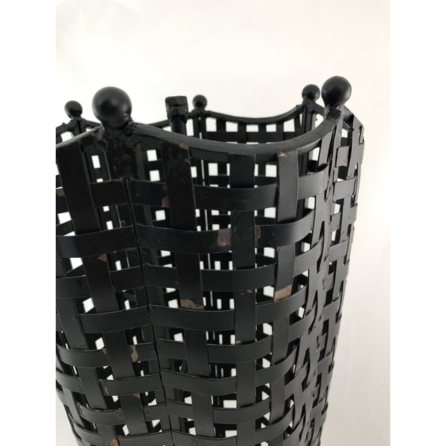 Woven Wrought Iron Umbrella Stand - Image 7 of 7