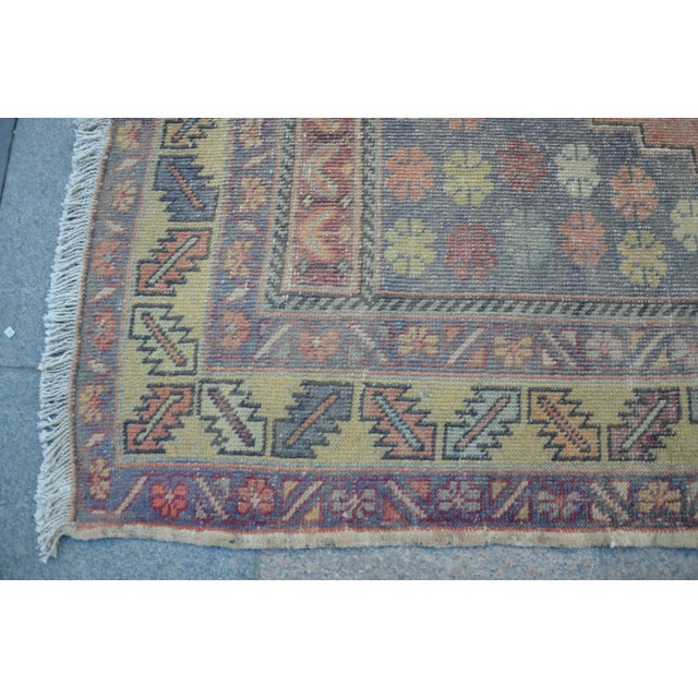 Turkish Tribal Floor Rug - 4′9″ × 8′10″ - Image 6 of 6