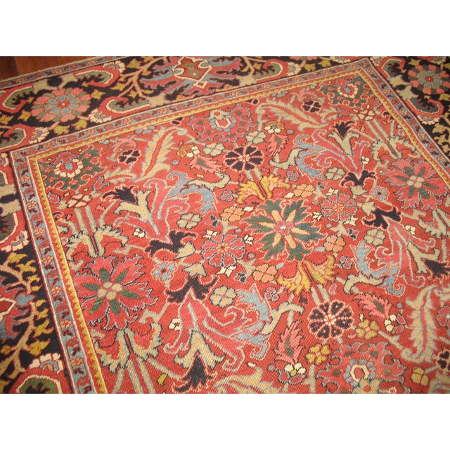 Antique Persian Heriz Rug - 8′4″ × 10′11″ - Image 5 of 11