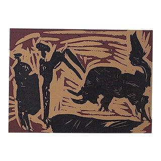 "Vintage Mid 20th C. Ltd. Ed. Picasso Lithograph-""Banderilles"" For Sale"