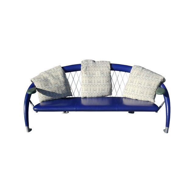 Mid-Century Modern A Post Modern Memphis Style Andrea Branzi for Cassina Sofa / Couch For Sale - Image 3 of 10