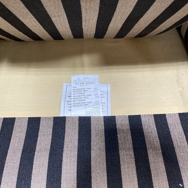 """""""Fendi"""" Striped Club Chair's - a Pair For Sale - Image 10 of 12"""