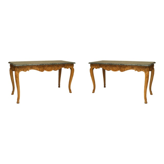 18th Century French Provincial Louis XV Consoles - a Pair For Sale
