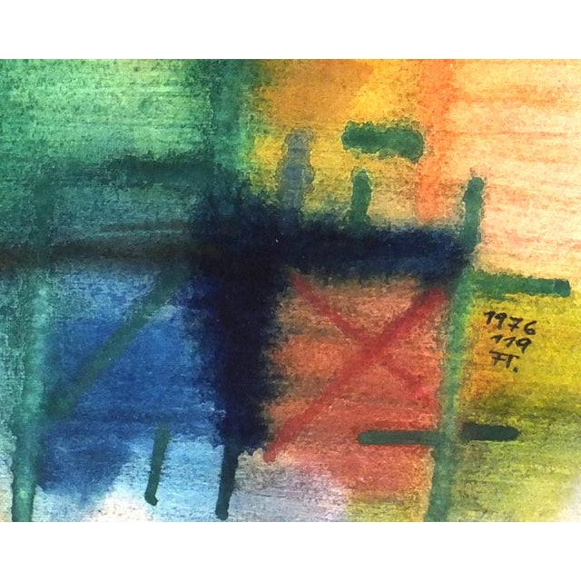 Vintage Abstract Painting, 1976 - Image 2 of 4