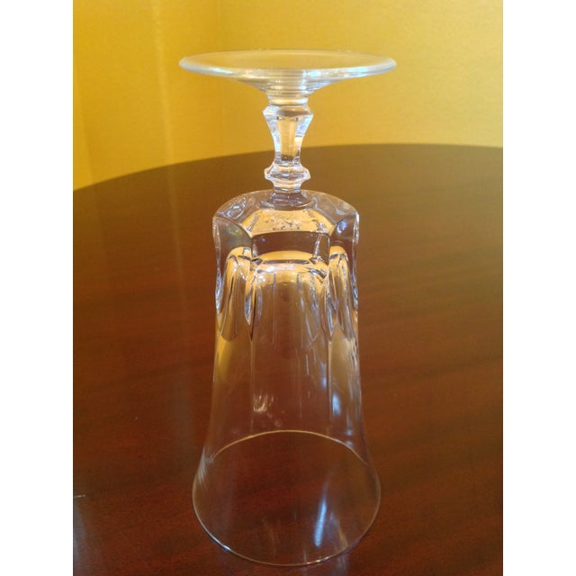 Traditional 1950s Vintage Crystal Goblets - Set of 8 For Sale - Image 3 of 8