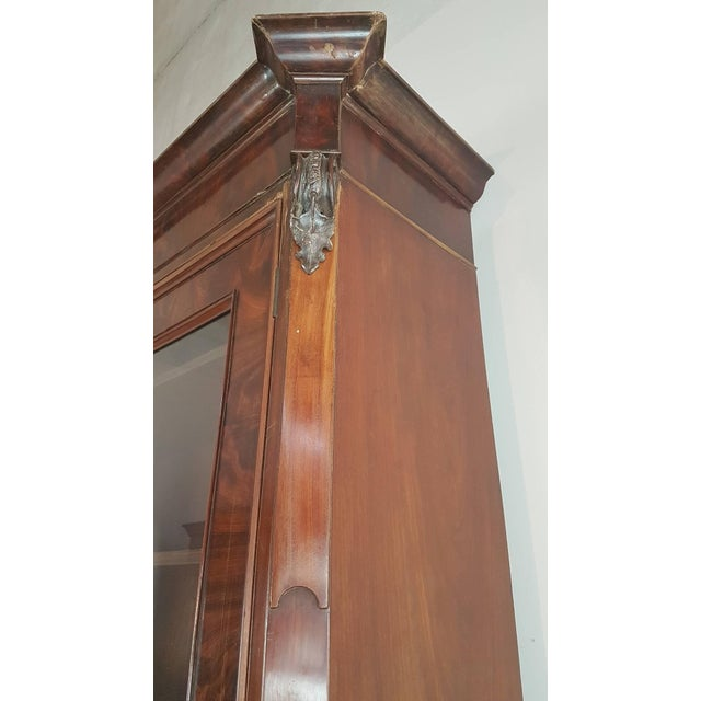 Mid-Century Modern 19th Century English Mahogany Wood Bookcase With Secretaire For Sale - Image 3 of 12