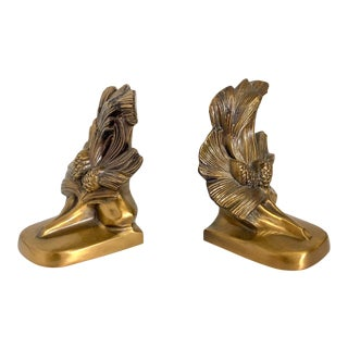 Pine Tree & Cone Bookends, Pair For Sale