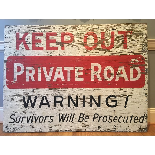 1960s Vintage 'Keep Out' Sign - Image 2 of 6