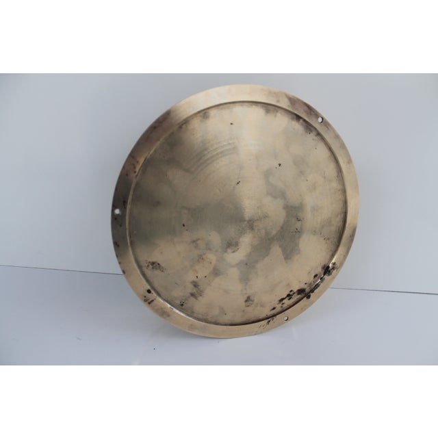 1940´s Nautical Round Solid Brass Wall Clock For Sale In Miami - Image 6 of 10