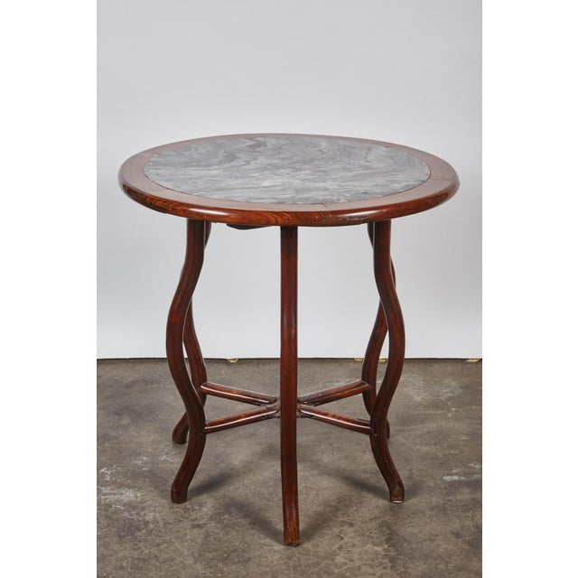 Late 19th Century Chinese Round Rosewood Folding Table For Sale In Los Angeles - Image 6 of 8