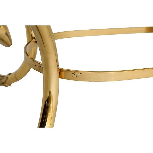Brass & Glass Swan Coffee Table - Image 8 of 9