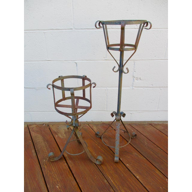 French Mediterranean Iron Planters - A Pair - Image 6 of 9