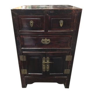 Antique Chinese Nightstand Elmwood For Sale
