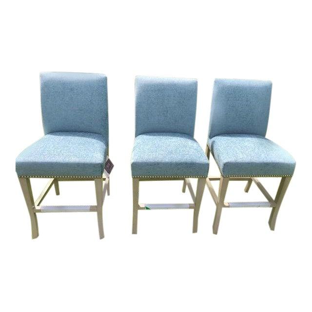 Custom Ballard Design Counter Stools - Set of 3 For Sale