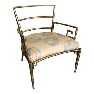 Italian Greek Key Chair in Brass