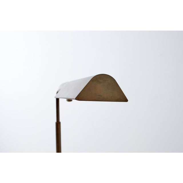Brass Pair of Casella Brass Adjustable Pharmacy Floor Lamps For Sale - Image 8 of 13