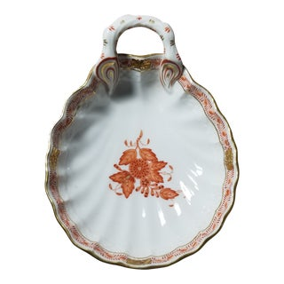 Herend Porcelain Shell Dish For Sale